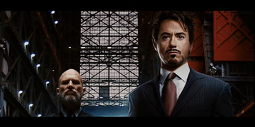 Jeff Bridges and Robert Downey Jnr. in Iron Man